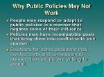 why public policies may not work11