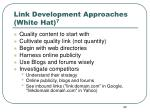 link development approaches white hat 7