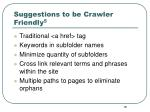 suggestions to be crawler friendly 5