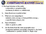 comparing ratios cont d