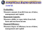financial ratio analysis cont d