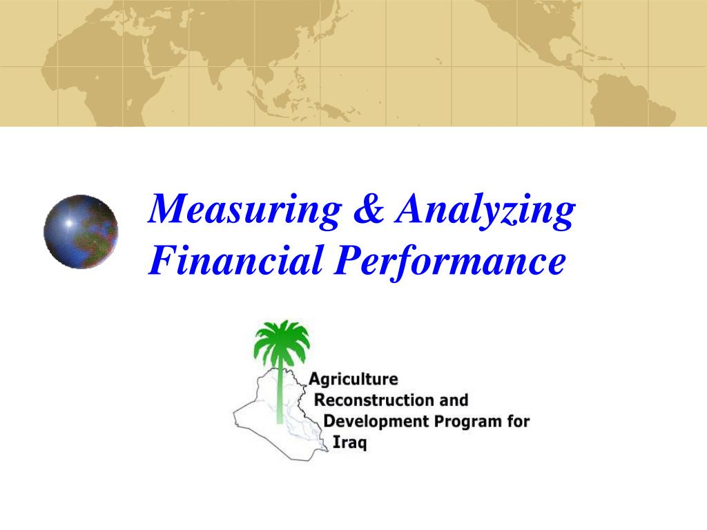 measuring analyzing financial performance l.