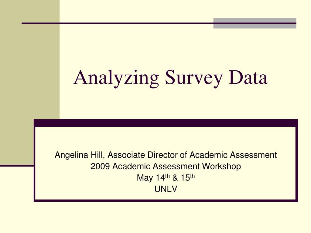 analyzing survey data l.