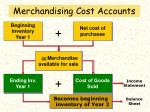 merchandising cost accounts