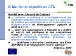 2 mandat et objectifs du cta