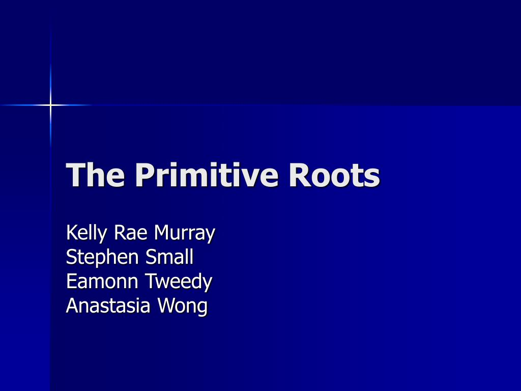 the primitive roots l.