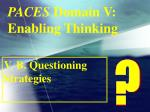 paces domain v enabling thinking