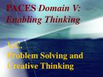 paces domain v enabling thinking87