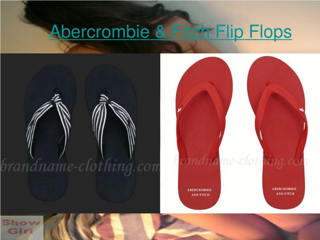abercrombie fitch flip flops l.