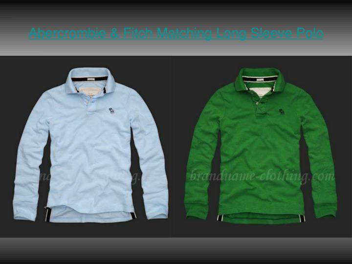 Abercrombie fitch matching long sleeve polo3