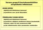 varane grupp b beetahemol tiline streptokokk infektsioon