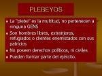 plebeyos