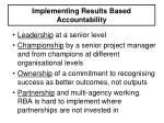 implementing results based accountability