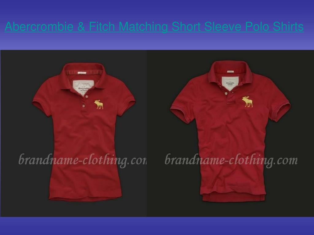 abercrombie fitch matching short sleeve polo shirts l.