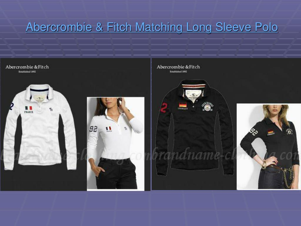 abercrombie fitch matching long sleeve polo l.