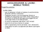 socializzazione al lavoro modelli teorici22