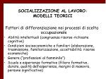 socializzazione al lavoro modelli teorici24
