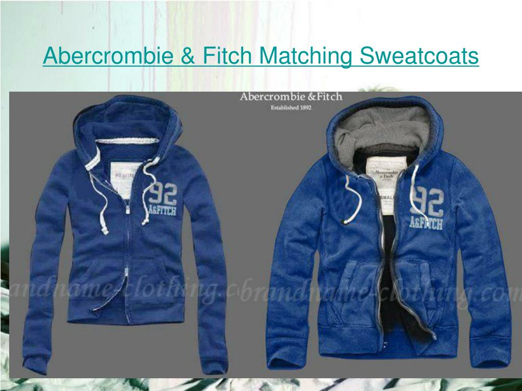 abercrombie fitch matching sweatcoats l.