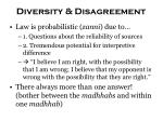 diversity disagreement