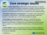 core strategic issues