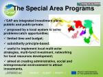 the special area programs