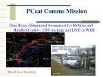 pcsat comms mission