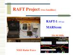 raft project two satellites
