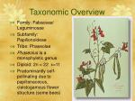 taxonomic overview