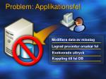 problem applikationsfel