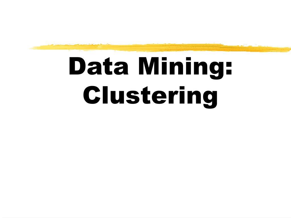 data mining clustering l.