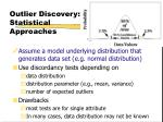 outlier discovery statistical approaches
