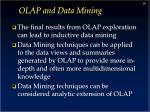 olap and data mining