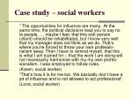 case study social workers