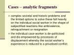 cases analytic fragments10