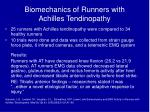 biomechanics of runners with achilles tendinopathy