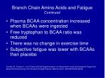 branch chain amino acids and fatigue continued