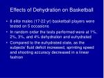 effects of dehydration on basketball