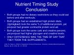 nutrient timing study conclusion