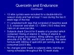 quercetin and endurance continued
