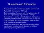 quercetin and endurance