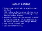 sodium loading