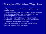 strategies of maintaining weight loss