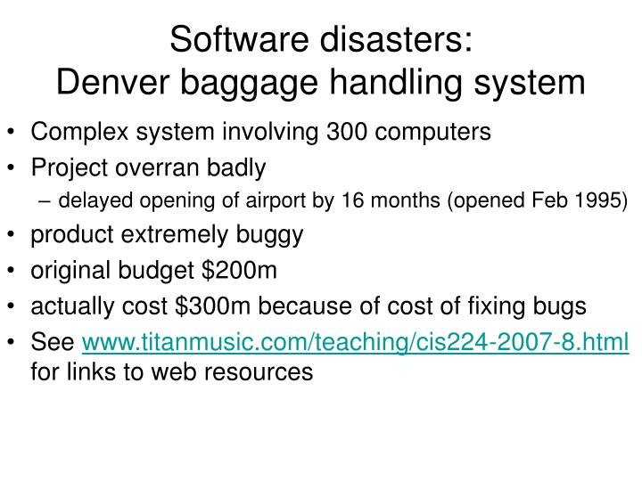 denver international airport baggage handling system 2 essay Denver international airport baggage handling system  denver  international airport table of contents 2 summary of findings.