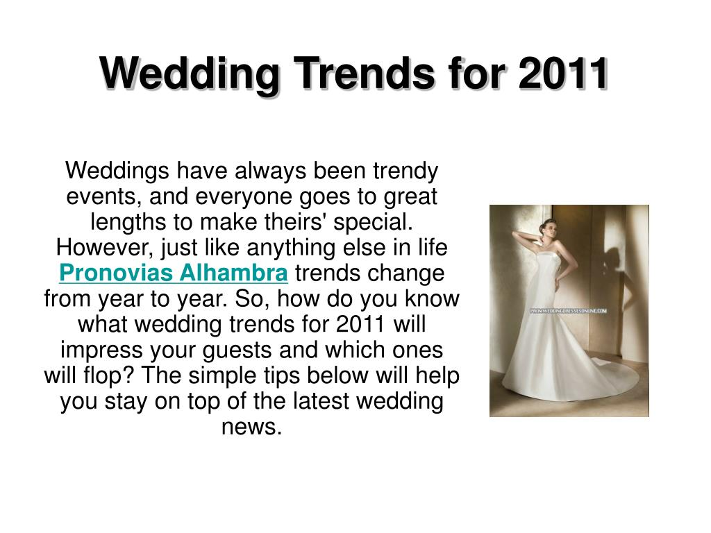 wedding trends for 2011 l.