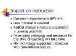 impact on instruction