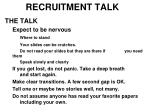 recruitment talk10
