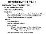 recruitment talk8