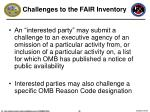 challenges to the fair inventory