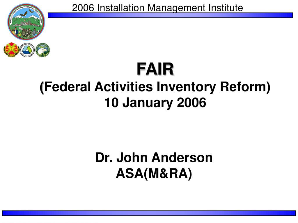 fair federal activities inventory reform 10 january 2006 l.