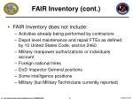 fair inventory cont
